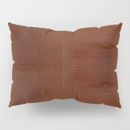 Burnt Orange Leather Pillow Sham