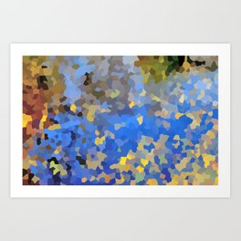 Gold dust on a mountain pond Art Print