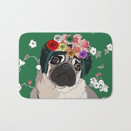 Frida-Pug Bath Mat