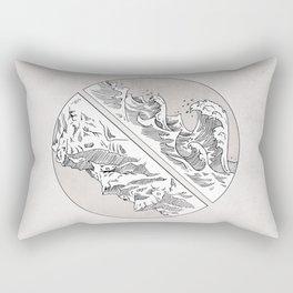 Mountains // Waves Rectangular Pillow