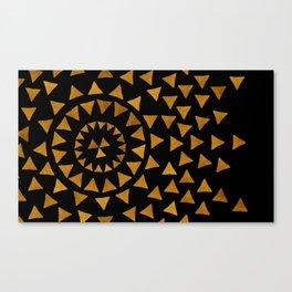 Dark Sun - Gold and Black Canvas Print