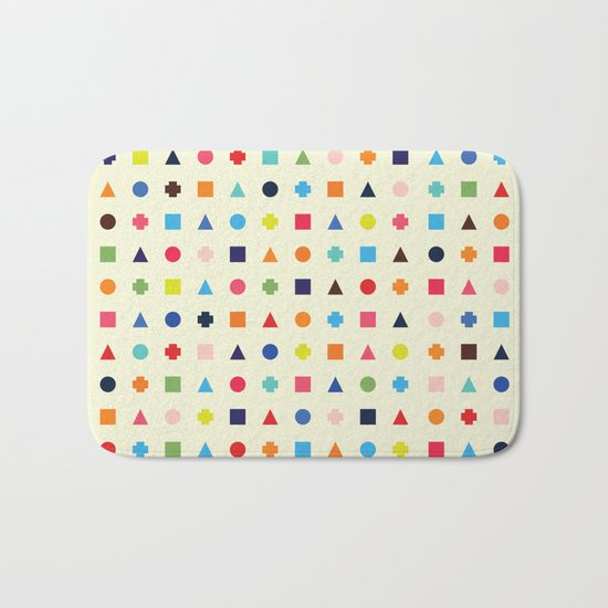 Dot Triangle Square Plus Repeat Bath Mat