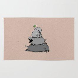 Hippo Totem Rug
