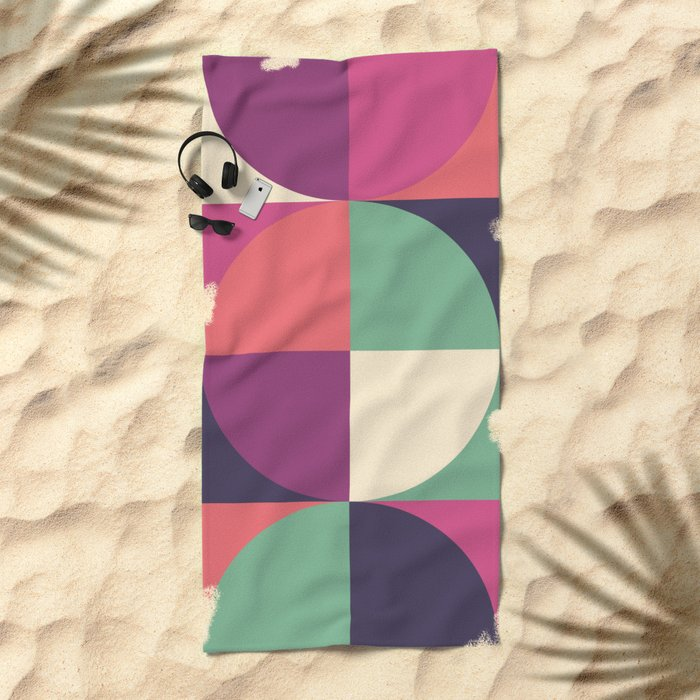 Quarters Quilt 3 Beach Towel