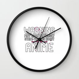 Warning May Spontaneously Start Talking About Anime 90s Wave Wall Clock