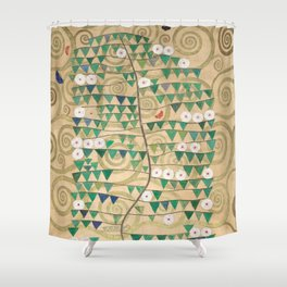 Gustav Klimt - Rosebush (Frieze for Stoclet Palace) Shower Curtain