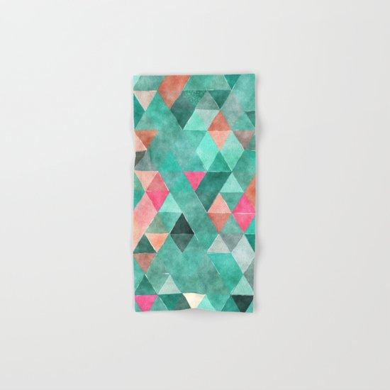 Retro Triangles Pattern 03 Hand & Bath Towel