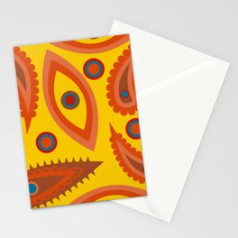 seamless pattern with leaves and flowers paisley style Stationery Cards