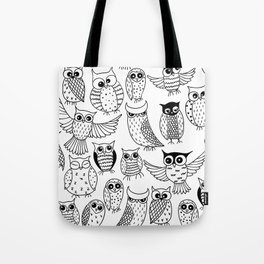 Funny owls Tote Bag