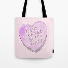 Candy coated Black heart Tote Bag