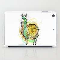 llama iPad Cases featuring Llama by Nemki