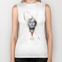 house of cards Biker Tanks featuring House of Cards - Claire Underwood by teokon