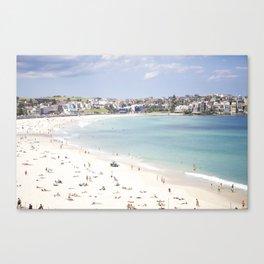 Bondi Beach White Sand Canvas Print