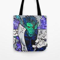 nightcrawler Tote Bags featuring Nightcrawler by Hugo Maldonado