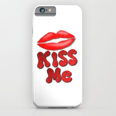 Kiss Me Lipstick Red Lips iPhone 6s Slim Case