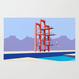 Soviet Modernism: Diving tower in Etchmiadzin, Armenia Rug