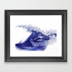 Surf in Ink Framed Art Print