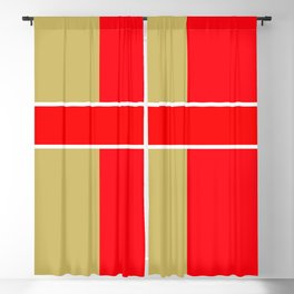 Team Colors 6...red,gold Blackout Curtain