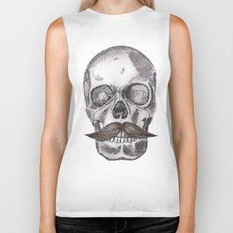 Skull Mustache Biker Tank