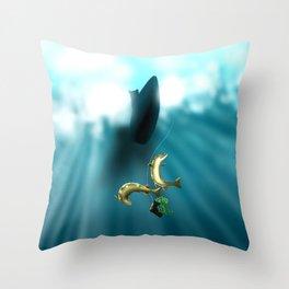 Mischievous Pikes Throw Pillow