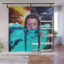 Greta Thunberg Climate Change Mural Bristol, England Wall Mural