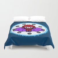 magneto Duvet Covers featuring Magneto QiQi - magnet magnet magnet.... by Ziqi
