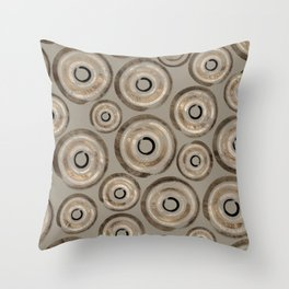 Enso Circles - Zen Circles Pastel Gold Throw Pillow