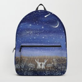 Hares and the Crescent Moon Backpack