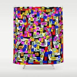 abstract laberinto Shower Curtain