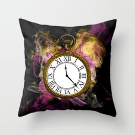 Time - Alice in Wonderland Throw Pillow