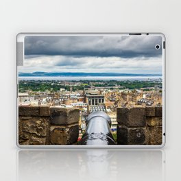 View of Edinburgh, Scotland from Edinburgh Castle Laptop & iPad Skin