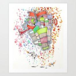 Insanely Crazy Art Print