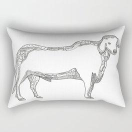 Brahman Bull Side Doodle Side Rectangular Pillow