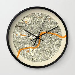 London Map Moon Wall Clock