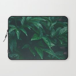 Green Leaves with Water Droplet - Nature Photography Laptop Sleeve