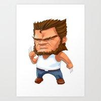 Mini Wolverine Art Print
