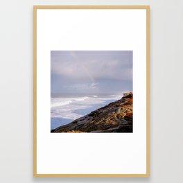 Rainbow Coast Framed Art Print