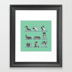 Miniature Schnauzer yoga Framed Art Print