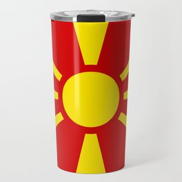 Macedonian national flag Travel Mug
