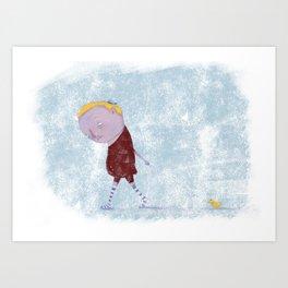 Friend & Duck Art Print
