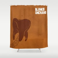 django Shower Curtains featuring Minimalist Django by Rafael Fleury