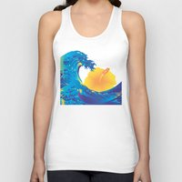 hokusai Tank Tops featuring Hokusai Rainbow & Hibiscus_Y  by FACTORIE