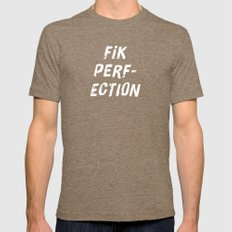 FIK PERFECTION Tri-Coffee Mens Fitted Tee SMALL