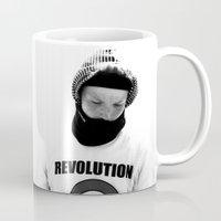revolution Mugs featuring rEVOLution by blumwurks