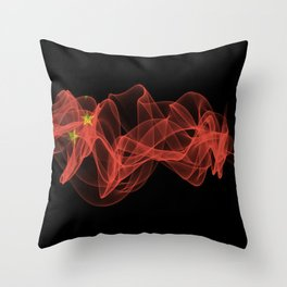 China Smoke Flag on Black Background, China flag Throw Pillow