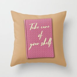 Thinking of you & your books Throw Pillow