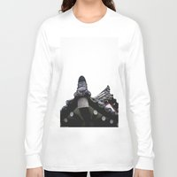 korean Long Sleeve T-shirts featuring Traditional Korean House by serlaluz