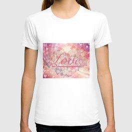 Love Letter Abstract Heart Design T-shirt