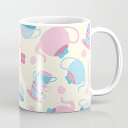 Tea Party Neck Gaiter Tea Pot and Tea Cups Neck Gator Coffee Mug
