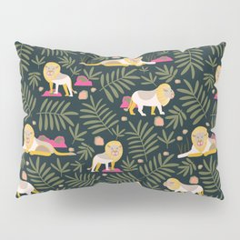 Gentle Lions Jungle Green Pillow Sham